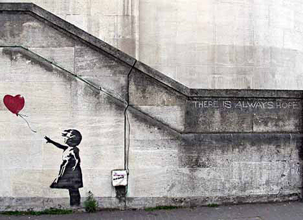banksy street art girl with red balloon hope i29248